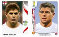 Oito anos depois [fotos: Panini]: Gerrard