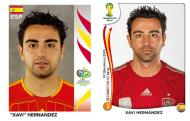 Oito anos depois [fotos: Panini]: Xavi