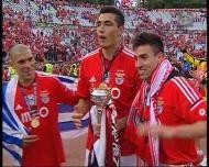 Festejos do Benfica no relvado