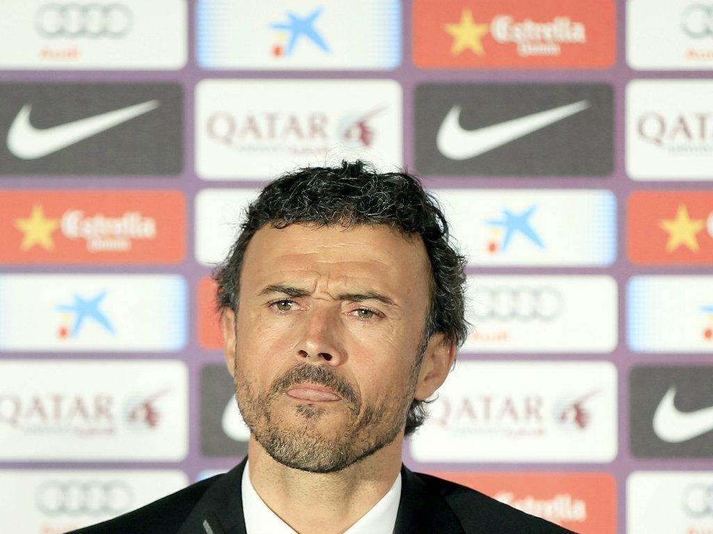 Luis Enrique apresentado no Barcelona