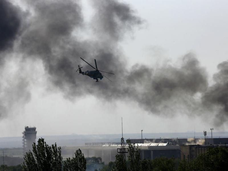 Ataque ao aeroporto de Dontetsk (REUTERS)