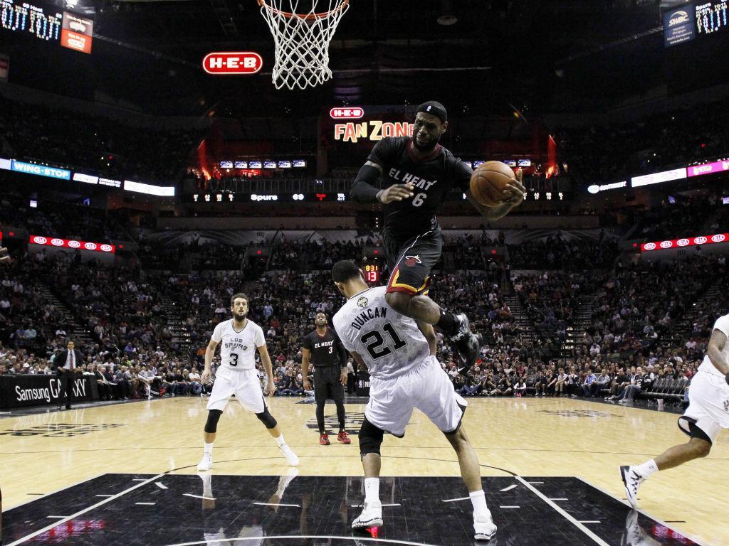 San Antonio Spurs vs Miami Heat (Reuters)