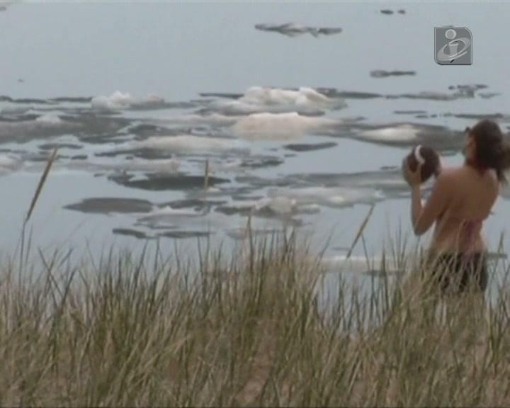 O gelo deste lago resiste ao calor