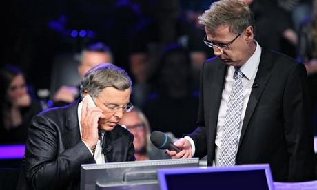 Político telefona a Merkel durante o concurso «Quem quer ser milionário»