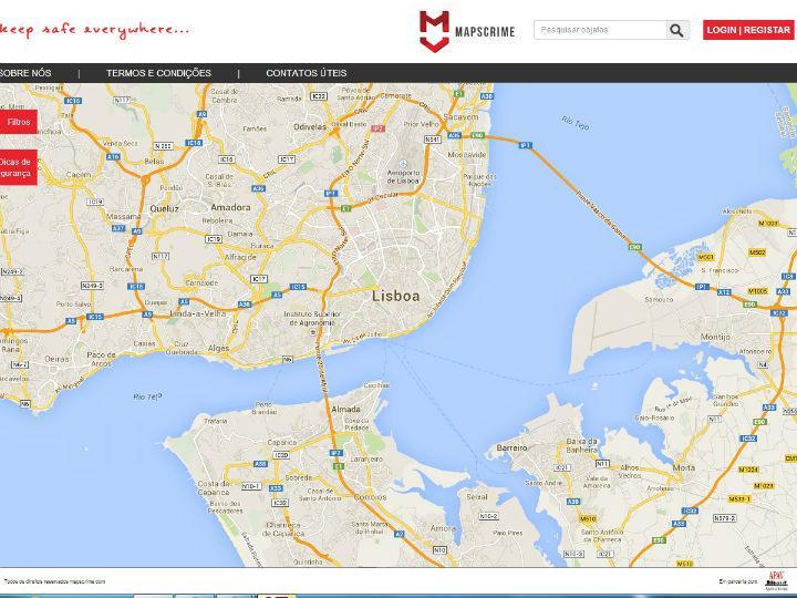 Jovem portuguesa cria mapa de crimes