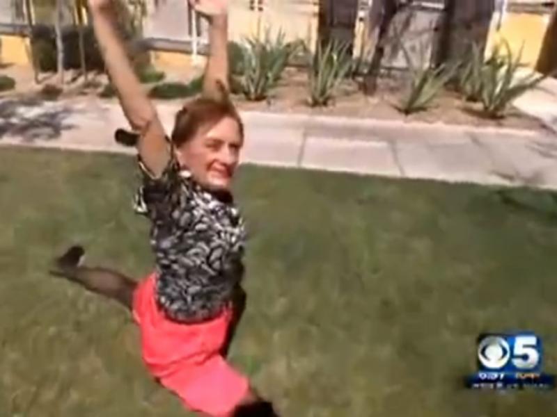 Mulher proibida de «fazer a roda (Reprodução / CBS 5)