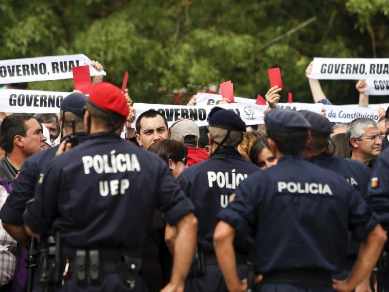 Cavaco Silva durante o 10 de Junho na Guarda (Lusa/Paulo Novais)