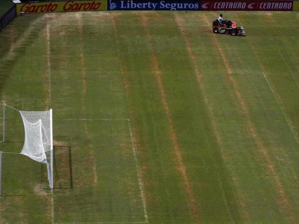 Estádio de Manaus em acabamentos (Reuters)
