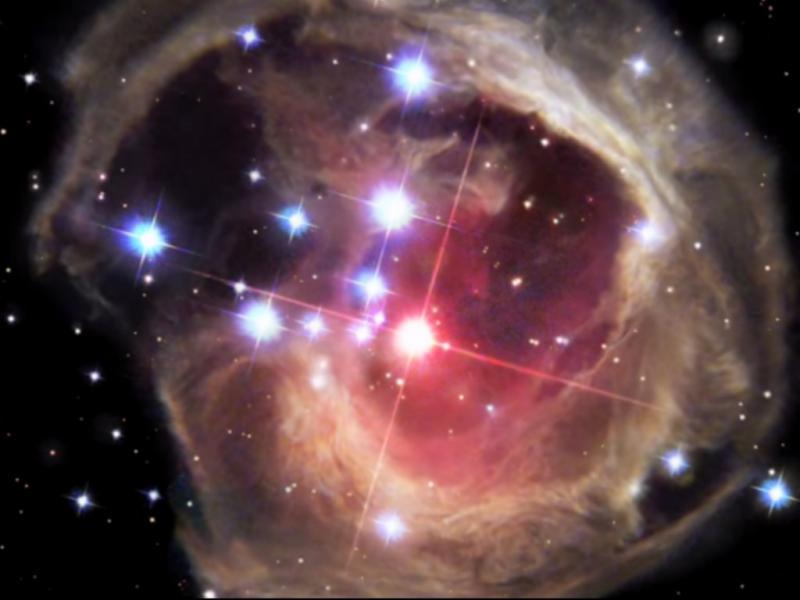 Explosão de estrela captada pelo Hubble (Reprodução/youtube/Our Universe Visualized)