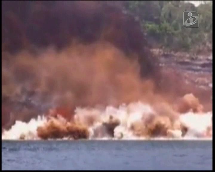 Novas imagens impressionantes da derrocada nos Açores