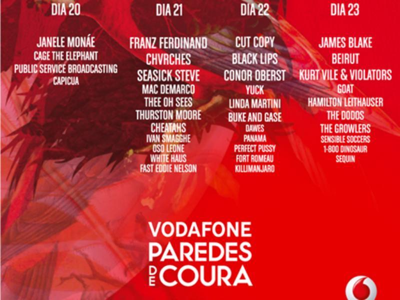Cartaz «Vodafone Paredes de Coura» 2014 (Reprodução/ Facebook)
