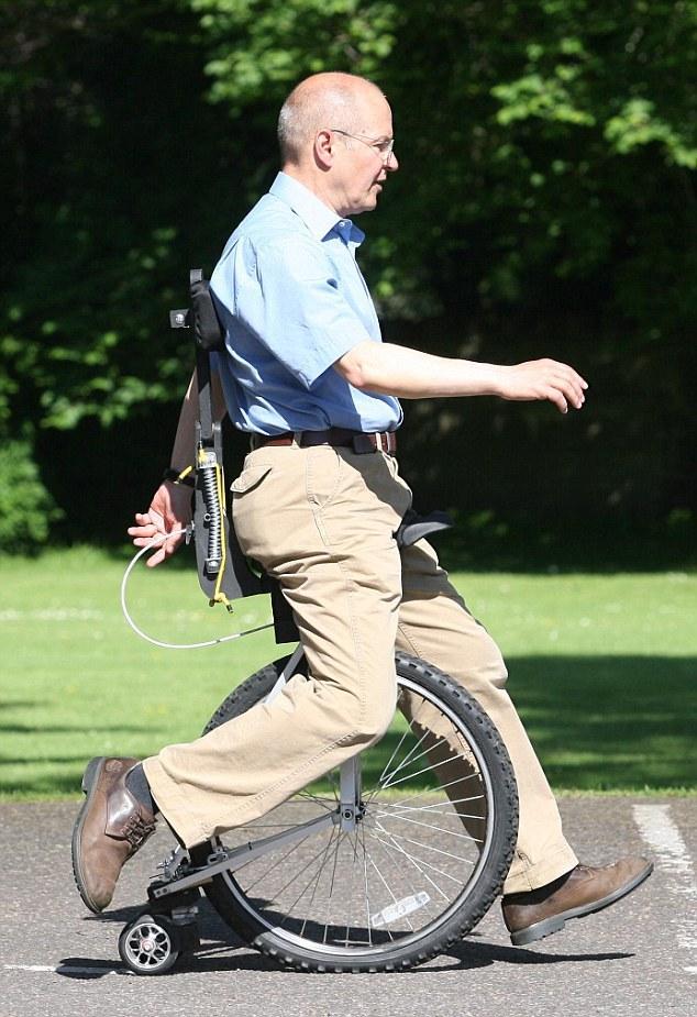 Monociclo sem pedais