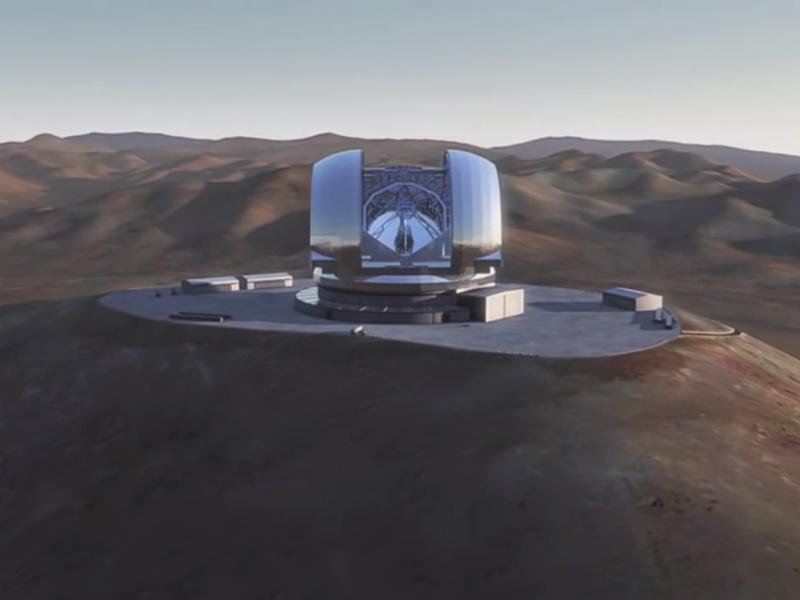E-ELT - o maior telescópio alguma vez construído (Reprodução/Youtube/CoconutScienceLab)