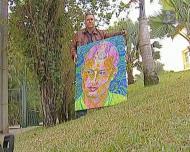 Pintor tenta entregar quadro a Ronaldo