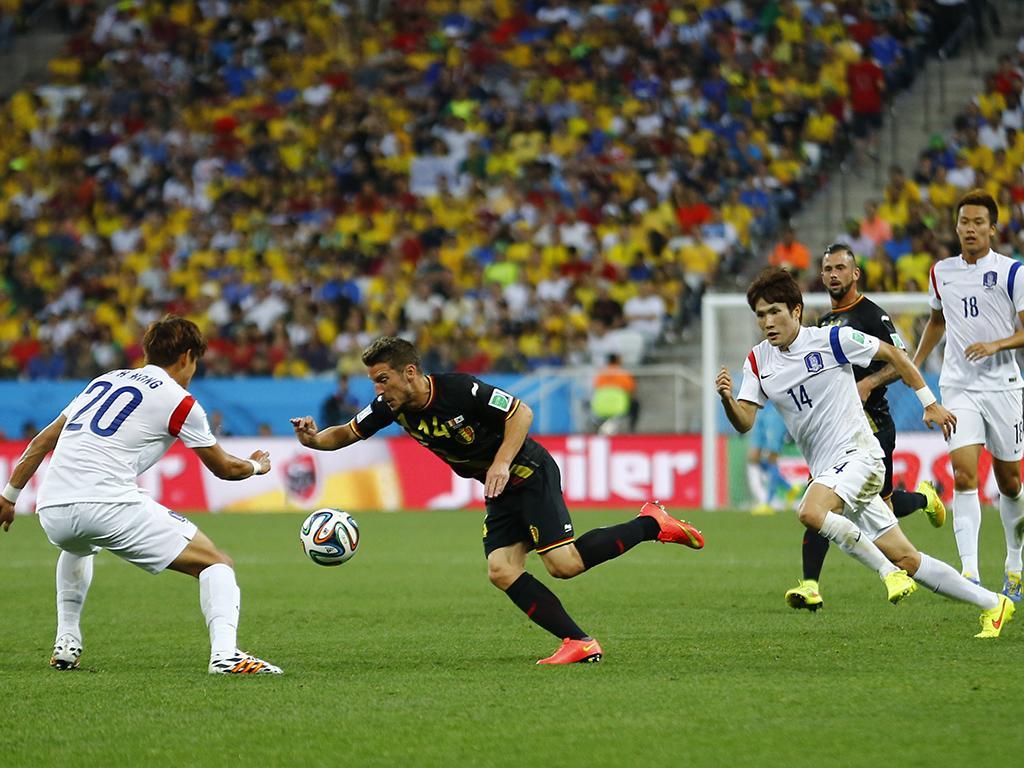 Coreia do Sul vs. Bélgica (Reuters)