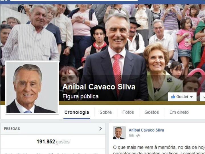 Facebook Cavaco Silva