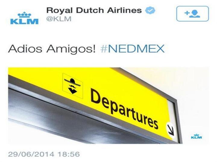 A piada da KLM irritou os mexicanos e foi depois removida do twitter da companhia aérea