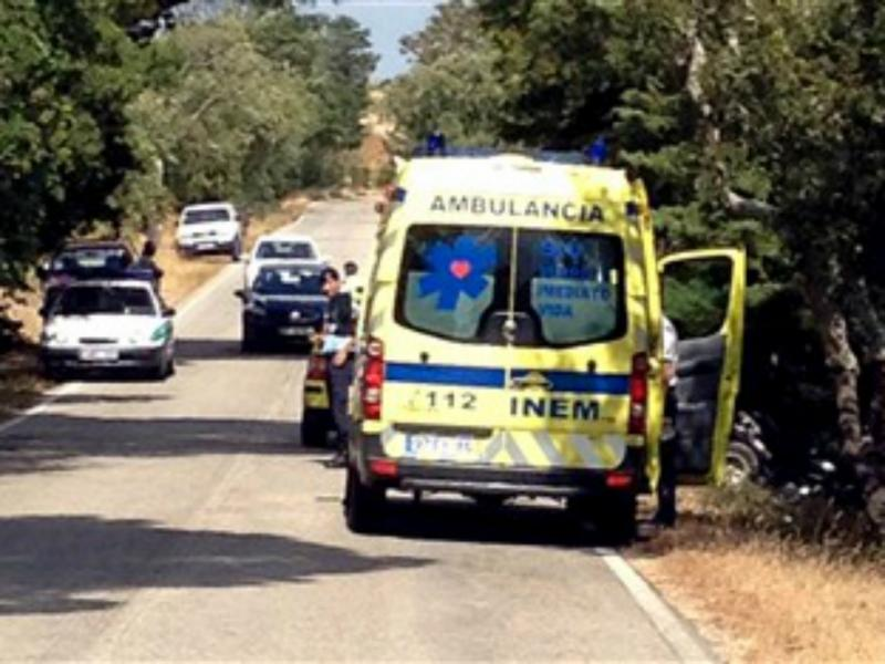 Criança morre em despiste de moto-4 (FOTO: MR/TVI)