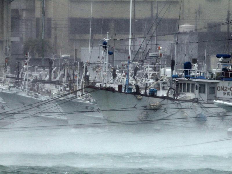 Ventos de 270 km do tufão Neoguri obrigam à retirada de milhares (EPA/LUSA)