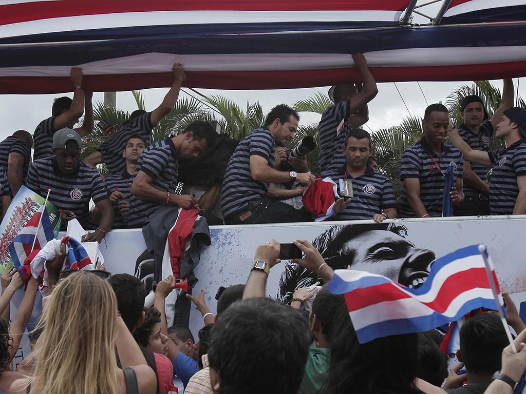 A chegada de Costa Rica
