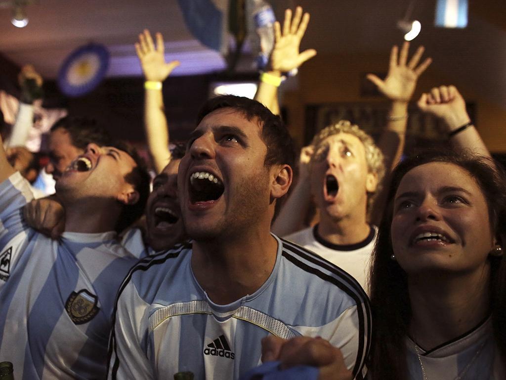Noite de festa na Argentina