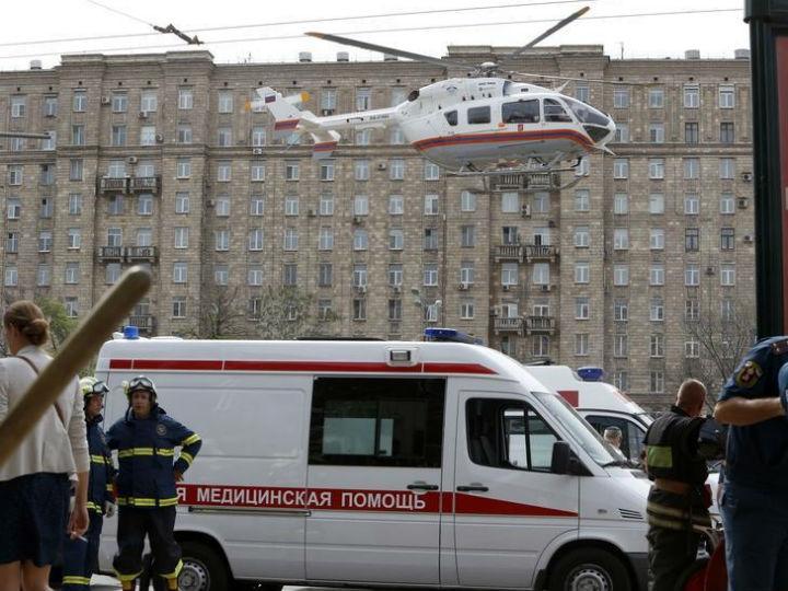 Descarrilamento do metro de Moscovo [Reuters]