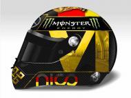 Rosberg com o tetra no capacete