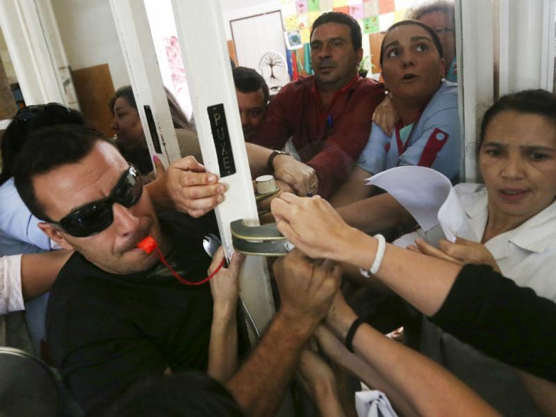 Protesto de professores contra prova (Lusa/Nuno Veiga)