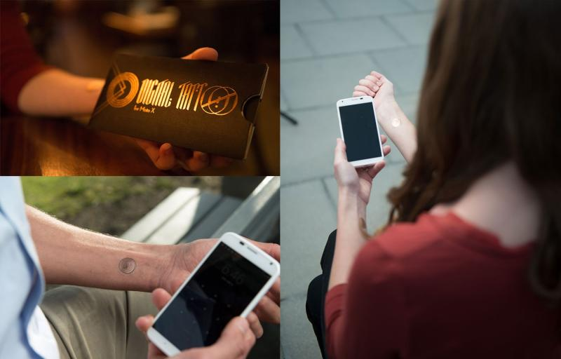Google cria tatuagem digital para desbloquear telemóvel (Foto: VivaLink)