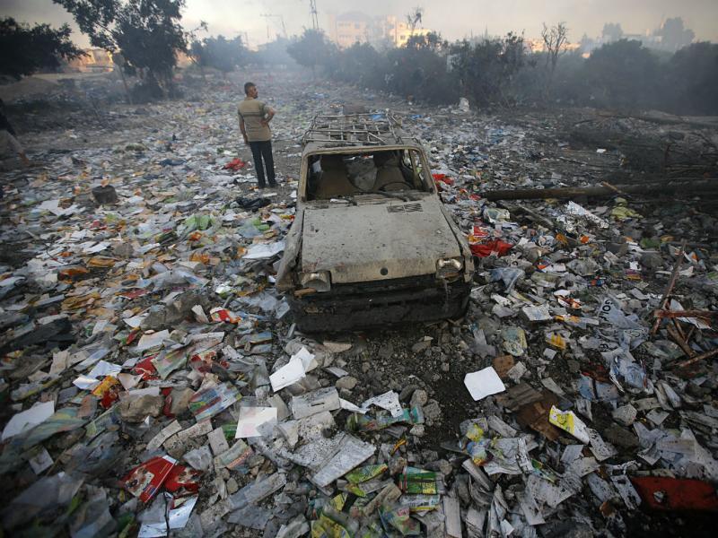 Ainda precisa de legenda? A imagem é de Gaza. EPA/MOHAMMED SABER