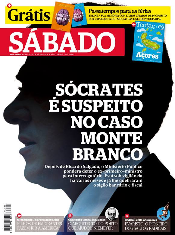 Capa da revista Sábado de 31/07/2014