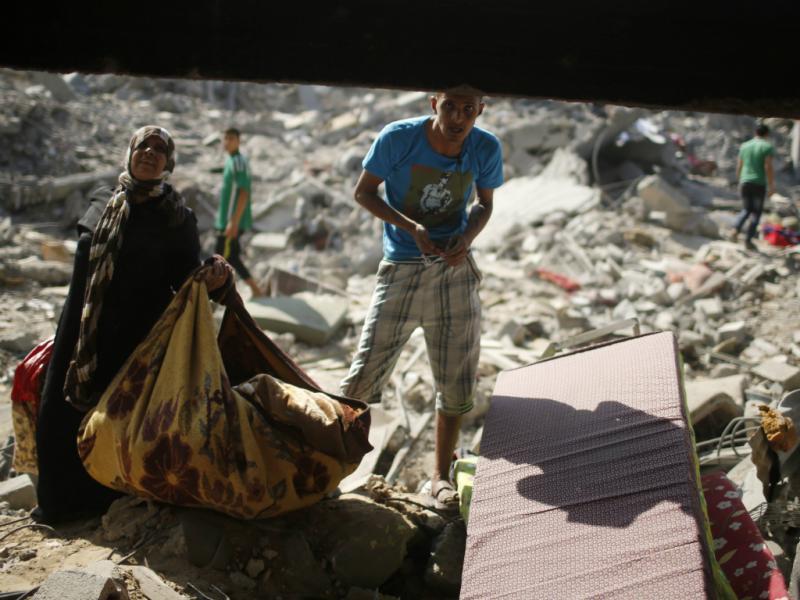 Gaza atingida pelos mísseis de Israel (Reuters)
