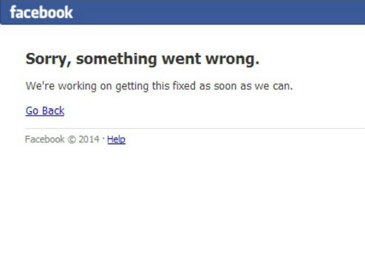 Facebook fica sem site devido a problemas técnicos