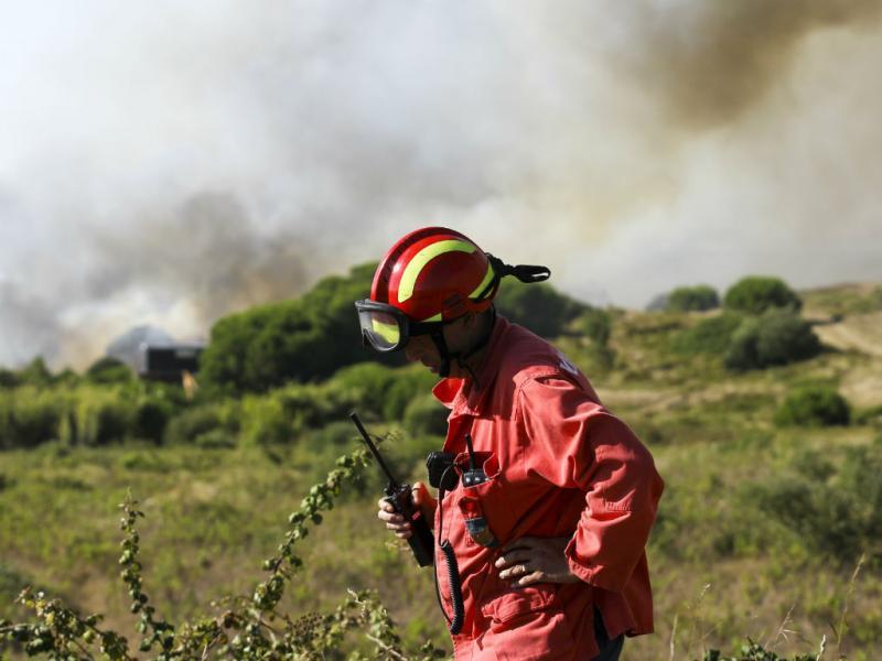 Incêndio em Sesimbra (Lusa)