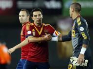 Xavi com a camisola de Espanha