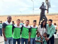 Santos Laguna: estátua por Benitez (Foto Twitter Santos Laguna)