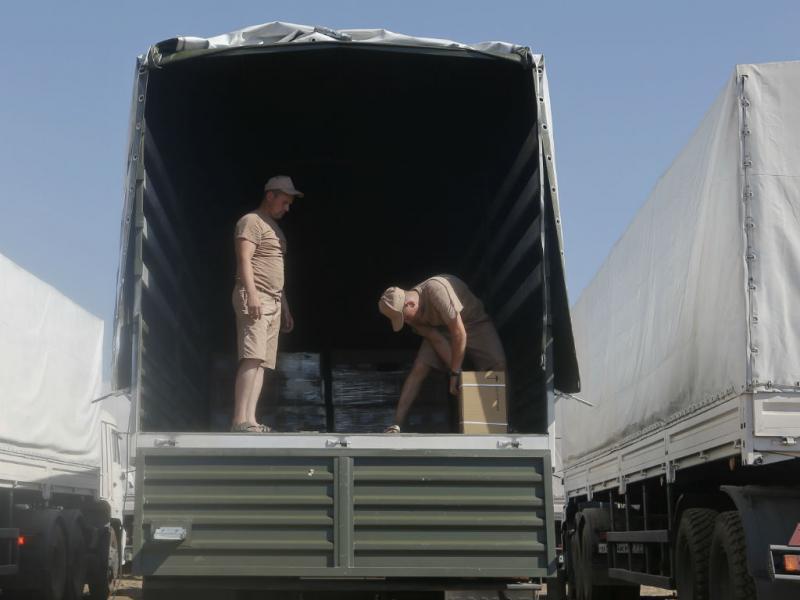 Ucrânia inspeciona comboio humanitário russo (REUTERS)