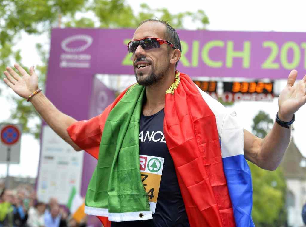 Yohann Diniz, campeão europeu com bandeira portuguesa