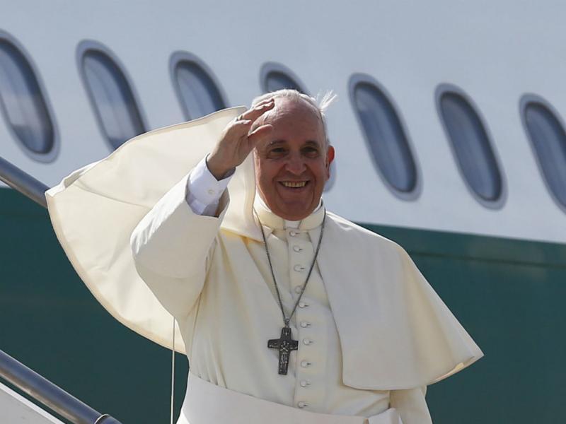 Papa Francisco durante a visita à Coreia do Sul (Foto: Reuters)