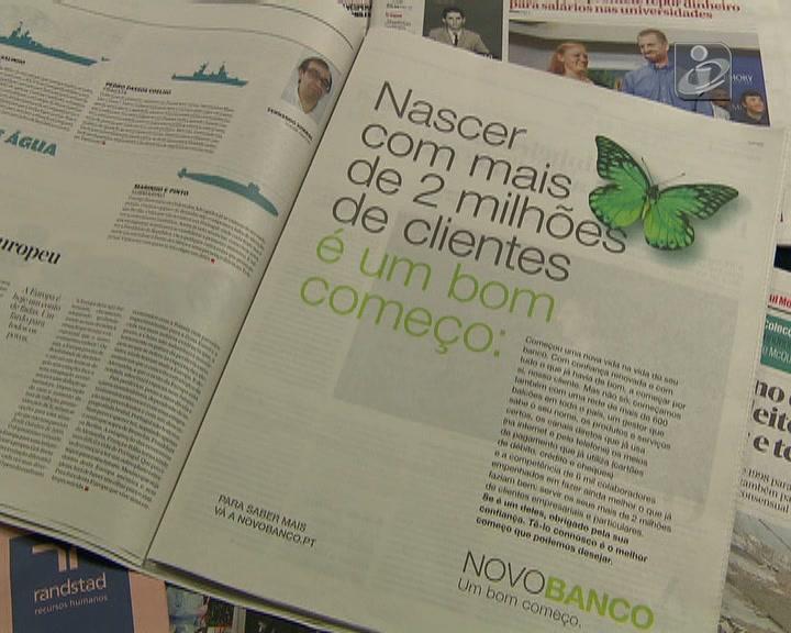 Arrancou hoje campanha publicitária do Novo Banco