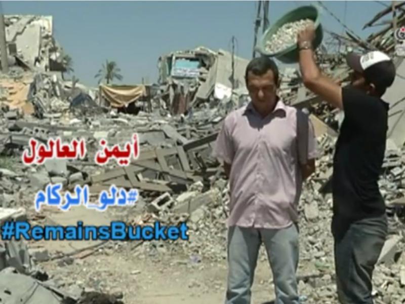 Jornalista lança desafio do balde de destroços