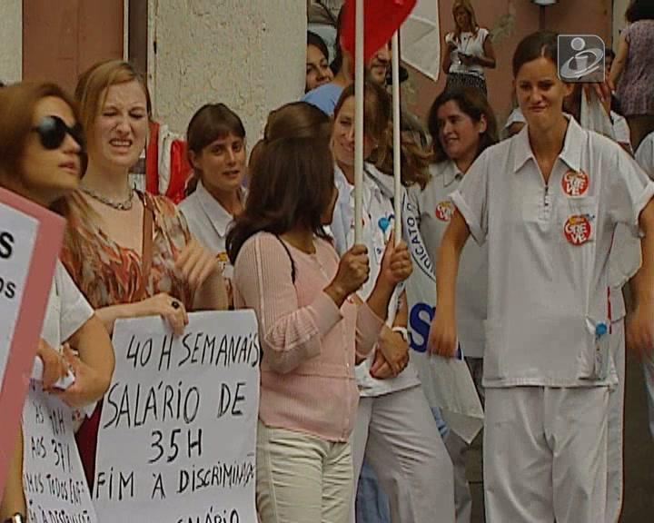 Enfermeiros do Centro Hospitalar de Lisboa em greve