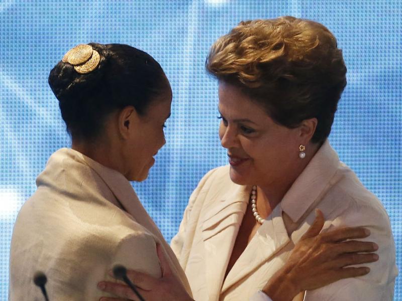 Marina Silva e Dilma Rousseff (Reuters)