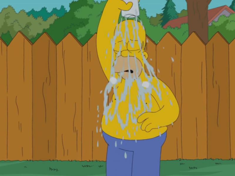 Homer Simpson faz «banho público» [Foto: Reprodução/YouTube/Animation Domination]