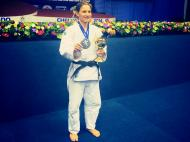 Telma Monteiro é medalha de prata Foto: Facebook