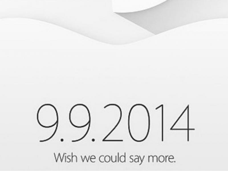 Apple confirma evento no dia 9.9.2014
