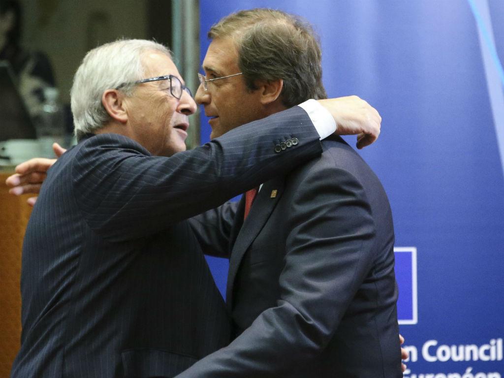 Passos e Juncker [EPA]