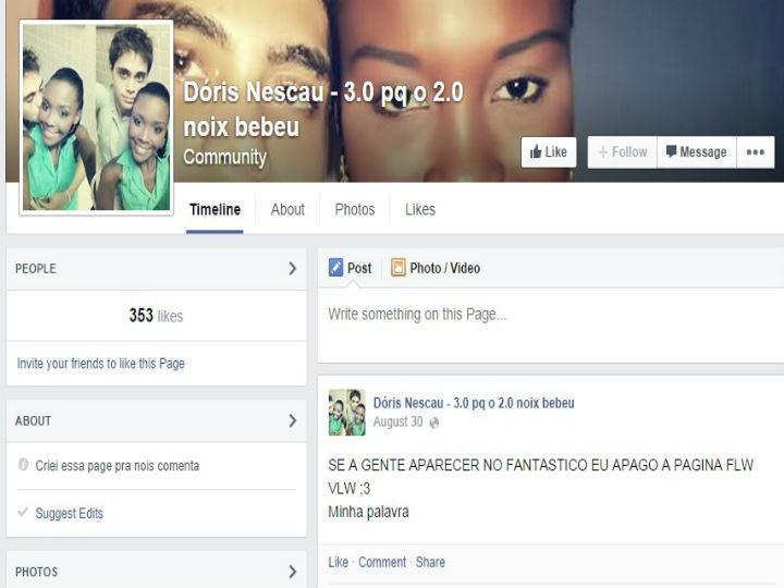 Grupo de utilizadores cirou página no Facebook para deixar insultos racistas a casal (Reprodução/ Facebook)