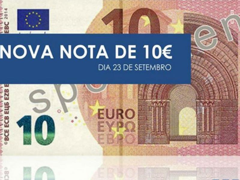 Nova nota de 10 euros divulgada pela PSP [Foto: Facebook]