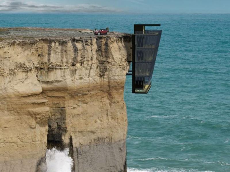 Cliff House - viver ao lado de um penhasco (Foto Facebook oficial da Modscape)